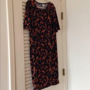 Lularoe Julia dress 2x lovely light fabric!